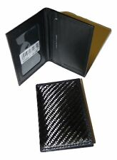Carbon Fibre RFID PROTECT ID travel pass Credit card holder Primehide slim 9203