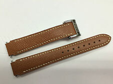 Authentic Chopard 16 mm Brown Leather Watch Band Strap with Deployment Buckle