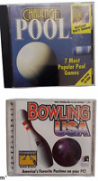 Lot of 2 Vintage PC Video Games CD-ROM Challenge Pool & Bowling USA