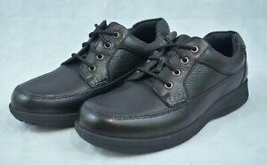 FLORSHEIM Black Leather COMFORTECH Cavin MOC Toe Casual COMFORT Shoes Mens 10.5M