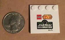 Lego Star Wars Celebration VII Anaheim 2015 Mini Build base with logo.Set of 2!!