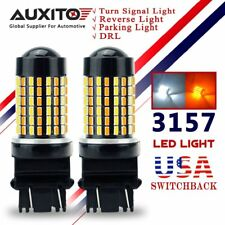 AUXITO 3157 LED Switchback 3014 SMD Dual Color White Yellow Turn Signal Light US