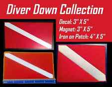 SCUBA Diver Down Flag Collection Decal, Patch and Magnet Graphics New Tank Red