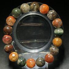 11.6mm Natural Color Phantom Quartz Stretch Crystal Beads Bracelet