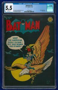 Batman #17 1943 CGC 5.5 Golden Age D.C. Comics