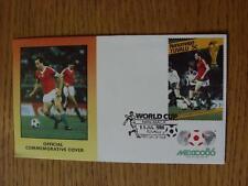 Coupe du monde 11/07/1986 postal cover: CC 1401-Hongrie Player-stamp: Hongrie pla