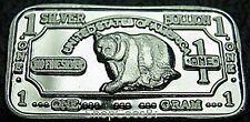 999 Silver Silver Bullion Silver Silverbar Bear Bear NEW! NEW RARE!!!