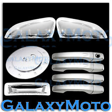 Ford Explorer Chrome HALF Mirror+4 Door Handle w/ Smart Key+Gas+Tailgate Cover