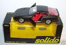 OLD SOLIDO PORSCHE 924 TURBO 1980 REF 1051 GRIS ANTHRACITE 1/43 IN BOX bis