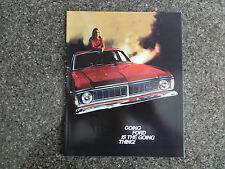 FORD FALCON 1970 XY SALES BROCHURE  PLUS ''RARE'' TRIM AND COLOUR CARD