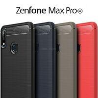 COVER per Asus Zenfone Max Pro M2 ZB631KL CUSTODIA Carbon Case VETRO TEMPERATO