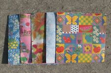 Nos Vintage Wrapping Paper/Gift Wrap 10 Full Sheets (2 of each pattern)