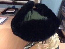 Sombrero de vuelo para hombre Elma Fudd caza geeen negro piel Solapas ruso