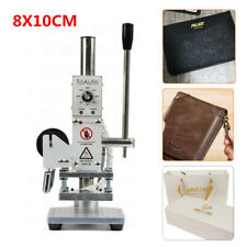 110v Manual Hot Foil Stamping Machine 810cm Leather Gold Embossing Logo Press