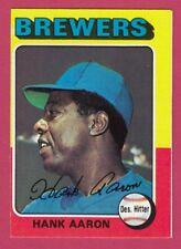 1975 Topps # 660 Hank Aaron -- Milwaukee Brewers -- Box 704-437