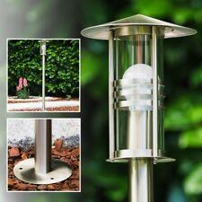 Stehlampe Aussen Steh Leuchten Edelstahl Wege Lampen Garten Pollerleuchte Glas