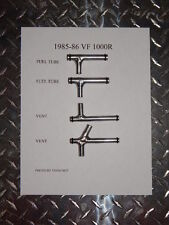 Honda 1985 VF1000R  fuel and vent tubes joint set complete