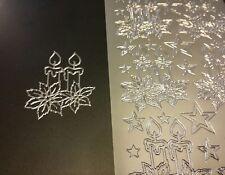 Stickerbogen, Weihnachten, Kerzen, Silber Nr. 862