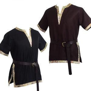 Medieval Tunic LARP Tops Renaissance Aristocrat Chevalier Cosplay Costume