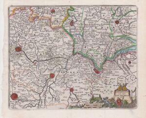 1692 Nice De Fer/Peeters Map of Antwerp, Belgium