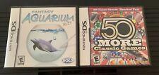 Lot Of 2 Games 50 More Classic Games & Aquarium Nintendo DS Lite Dsi 2ds 3ds XL
