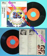 LP 45 7'' ZECCHINO D'ORO La felicita' Il merill tweet ANTONIANO no cd mc vhs