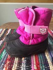 Kamik Snowbug Winter Snow Boots Toddler Girls Size 9 Pink Elastic Strap