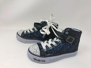 Girls Skechers (10923L) TWINKLE TOES SHUFFLES GLITTER GIRLY Shoes 411E