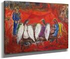 Framed canvas art print giclée Abe With Angels marc chagall