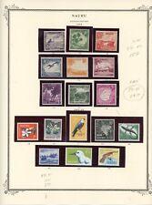 NAURU--Lot of 18 Different stamps Scott #39-#47 & #49-#56 on Scott Pages
