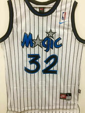 #32 Shaq Shaquille O'Neal Orlando Magic Throwback WHITE Men's Jersey
