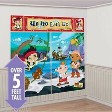 JAKE & THE NEVER LAND PIRATES WALL DECORATING KIT (5pc) ~ Party Supplies