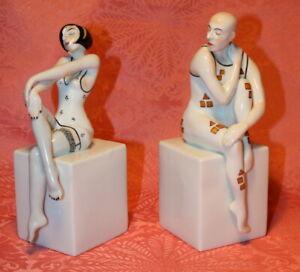 Paar Buchstützen aus der Eros-Serie von Kati Zorn, Volkstedt