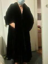 Collared velvet coat jacket thick winter wear sz M/L