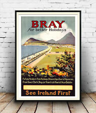 Bray, Vintage Irish Travel poster reproduction.