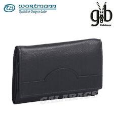 hochwertige Leder Schlüsseltasche | Schlüsseletui | Minibörse | mit 6 HAKEN