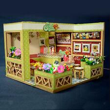Cute DIY Wooden Miniature Modern Dessert Shop Doll House Kit Birthday Gift