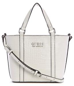 NEW GUESS Adelle Womens Handbag Tote Satchel Crossbody Shoulder Bag White BNWT