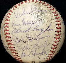 1969 St Louis Cardinals Team Signed Ball vtg BOB GIBSON HOF 1960s Vada Pinson