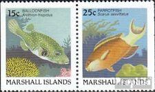 Marshall-Eilanden 172D/173D gestempeld 1988 Vis