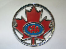 CANADA AUTOMOBILE ASSOCIATION CAR CLUB BADGE with MAPLE LEAF PICTURED c1980