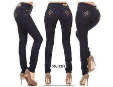 Diva star colombian 278 dark blue levanta cola stretch  high waist skinny jean