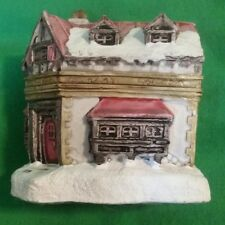 VINTAGE 1988 Scrooge Counting Miniature House Dickens Collectable  Resin