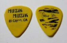 Steve Vai Alcatraz 1980'S Era Muzik Muzik Tour Issued Guitar Pick Yellow