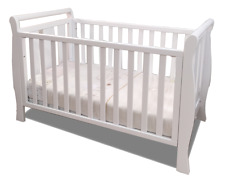3 IN 1 SLEIGH COT CRIB WHITE JUNIOR BED post to Australia