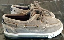 Nautica Spinnaker Boat Loafer Shoes Toddler Boys 10 Gray/white/navy blue