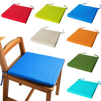 ITALIAN FABRIC Chair Cushions With Ties SEAT PADS Cushion Pads Kitchen GARDEN