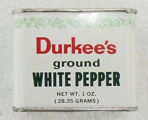 OLD DURKEE'S 1 OZ. GROUND WHITE PEPPER TIN