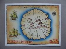 SAO TOMÉ & PRINCIPE, S/S 1979 map sailship