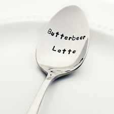 Butterbeer Latte - Stainless Steel Hand-Stamped Spoon | Harry Potter Kitchen